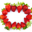 Strawberries frame — Stock Photo #3111925