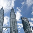 Petronas Twin Towers daylight - Stock Photo