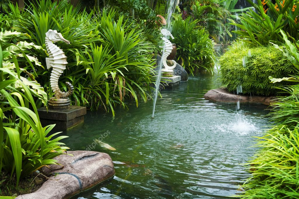 Jardim zen tropical — Fotografias de Stock © szefei #3689239
