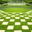 Stock Photo: Manicured lawn