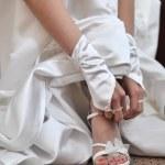 Wedding shoes — Stock Photo