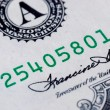 Close up view of serial number — Stock Photo #2774801