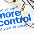 Take control of your financial future — стоковое фото #2774807
