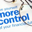 Take control of your financial future — Stock fotografie