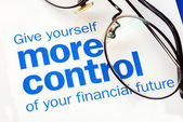 Převzít kontrolu nad vaší finanční budoucnosti — Stock fotografie