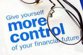 взять под контроль ваше финансовое будущее — Стоковое фото