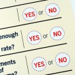 Select Yes or No from a questionnaire — Stock Photo