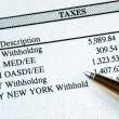 Stock Photo: List of withholding taxes