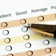 Stockfoto: Fill in customer satisfaction survey