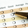 Fill in the customer satisfaction survey - Stock Photo