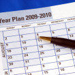 Stock Photo: Planning year on day planner