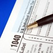 Working on the United States Income Tax — Stock Photo
