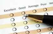 Fill in the customer satisfaction survey — Foto Stock