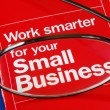 Focus on banking with Small Business - Stock Photo