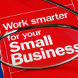 Focus on banking with Small Business — ストック写真