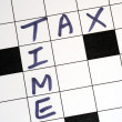 The tax time for the income tax return — Stock Photo