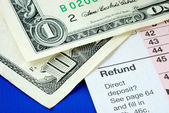 Prepare money to pay for the income tax — Stock Photo