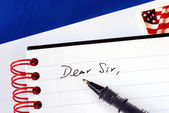 Write a letter to someone — Stock Photo