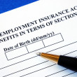 Foto de Stock  : Apply unemployment insurance