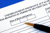 Apply unemployment insurance — 图库照片