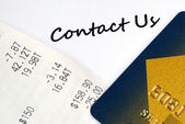 Contact the customer service for credit card related issues — Stock Photo