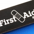 Macro view of the words First Aid Kit — ストック写真