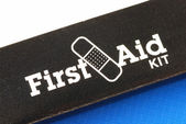 Macro view of the words First Aid Kit — Stock Photo