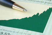 Analyze the investment return from the chart — Stock Photo
