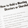 Details on how to hold a business meeting — Foto Stock
