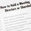 Details on how to hold a business meeting — Stok fotoğraf