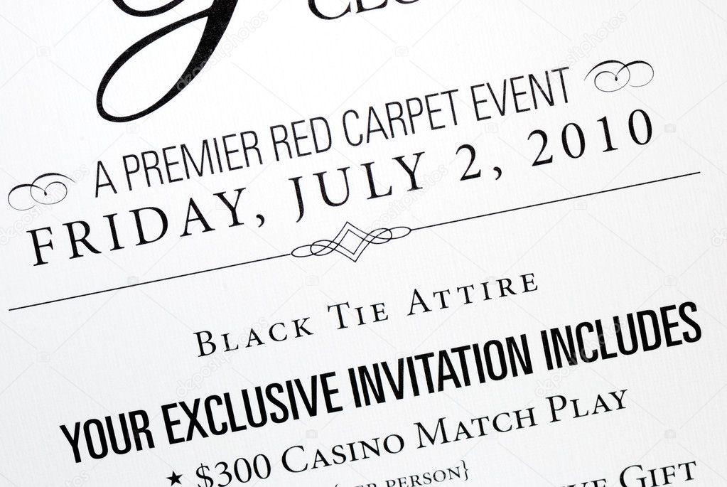 An invitation card for a special event Photo johnkwan – An Invitation Card
