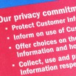Details about the privacy commitment to the customers - Lizenzfreies Foto