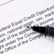 Focus on details about Federal Equal Credit Opportunity Act — Stock Photo #3423181