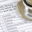 Fill out the family history section in the medical questionnaire — Stock Photo