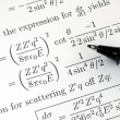 Stock Photo: Try to solve some complicated mathematics questions