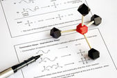 Working on the college level Organic Chemistry — Stock Photo