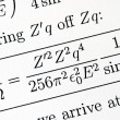 Stock Photo: Try to solve complicated mathematics question