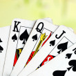Royal flush from the poker cards concepts of winning — Stock Photo