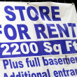 Royalty-Free Stock Photo: Store for rent sign concepts poor economy