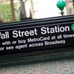 New York City Wall Street subway station — Stock Photo