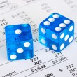 Dices concepts of the risk and reward in business — Photo