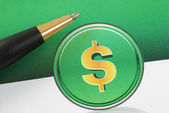 Dollar sign concepts of investing, profits, and wealth — Stock Photo