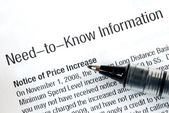 Need to know information about price increase — Stock Photo