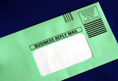 Send out a business reply letter with the address part blanked out — Photo