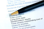 Analyze the financial statement of a company — Stock Photo