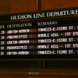 Check out the train schedule board — Foto de Stock