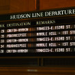 Check out the train schedule board — Photo