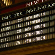 Check out the train schedule board — Stock Photo