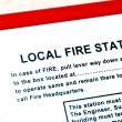 Instruction about local fire station in building — Stock Photo #3554190