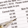 Stock Photo: Notify customers about rate increases